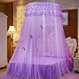 Mosquito Net Bed Canopy For 1-2m Bed Fly Insect Protection Indoor Decorative Height 2.7m Top Diameter 1.2m,1m