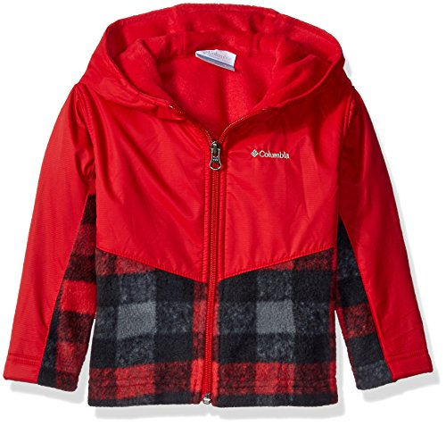 Columbia Baby Boys' Steens Mt Overlay Hoodie, Mountain Red Plaid, 6-12 Months