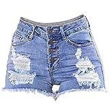 iLUGU Women Slim Washed Ripped Hole Short Mini Jeans wrangler jeans Denim Sexy Pants Shorts