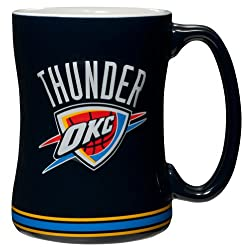 Boelter Oklahoma City Thunder - Logo 14 oz. Sculpted Relief Mug
