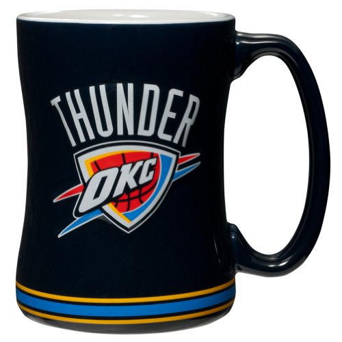 Boelter Oklahoma City Thunder - Logo 14 oz. Sculpted Relief Mug by Boelter