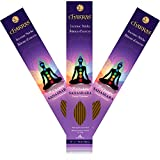 Chakras 100% Natural Hand Dipped Incense Sticks 7 Sahasrara – Crown – Enlightenment – Primary Aromas are Frankincense & Myrrh & Lotus – 11 inch – 60 Minutes – 3x 20-pack