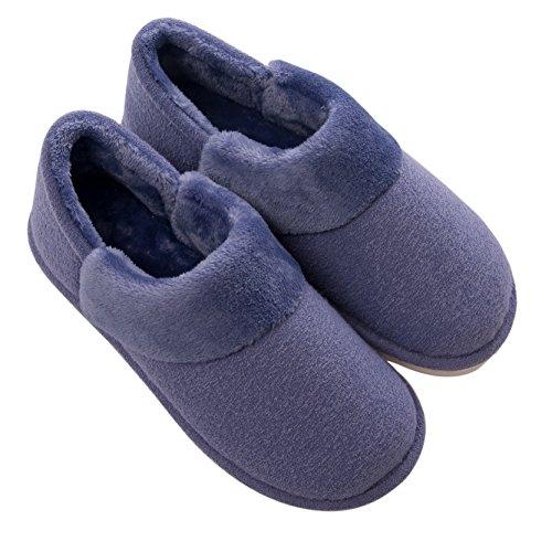 Interno In Fluffy Velluto Ladies Coral Blu low Pantofole Warm Boot Mianshe Uomo top Peluche Da Heat zFqwBp4