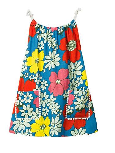 Little Girls Slip Dress Floral Cotton Summer Holiday Beach Tank Top Shirt Dress -