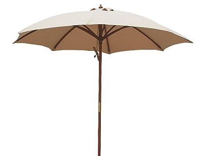 Charmant Bayside21 9 Feet Wood Rain Style Market Umbrella