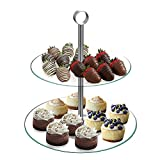 Chef Buddy 2-Tier Round Glass Buffet and Dessert Stand