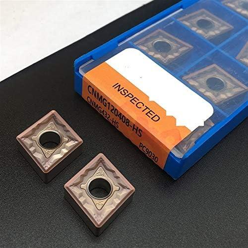 Txrh Drehbank 10PCS CNMG120408 HS PC9030 Karbid-Einsätze Drehwerkzeug CNC-Drehmaschine Werkzeug for Edelstahl (Angle : CNMG120408 HS PC9030)