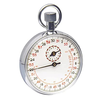 Image of H-B DURAC Analog Copper Chromium Plated Stopwatch; 30 Minute, 1/5 Second Intervals (B61700-5100) Clocks & Watches