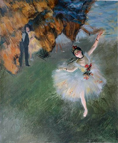 Paris France Oil Painting - Eastpainting Handmade Oil Painting the Star By Edgar Degas ( 1834-1917 France ) Musee D\'orsay, Paris (20x24 Inches)
