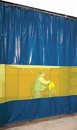 Steiner Vinyl Laminated Polyester Welding Curtain Wall, 8 ft. H x 8 ft.W x 0.014