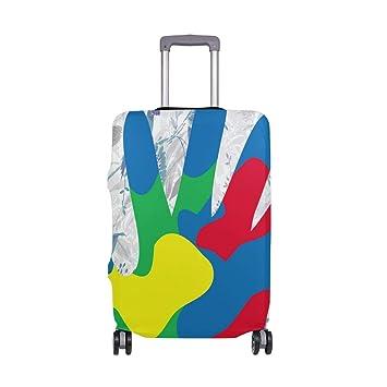 Amazon.com: Camuflaje pintado a mano maleta Protector ...