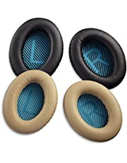 Replacement Ear Pads Cushions for Bose QuietComfort 2 (QC2) QuietComfort 15 (QC15) QuietComfort 25 (QC25) SoundLink AE2 AE2i AE2w SoundTrue AE SoundLink Around-Ear I II 1 2 Wireless Headphones (Black)