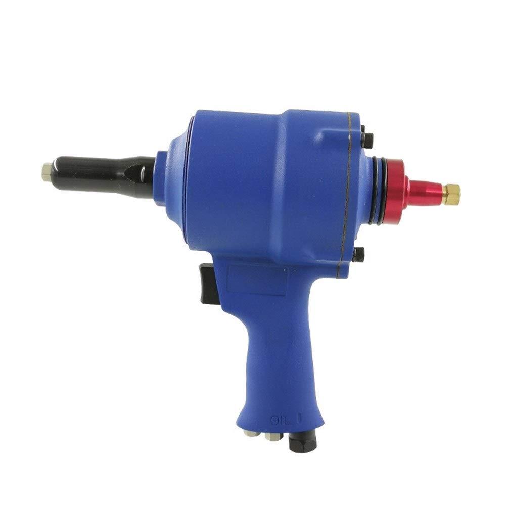 Self-priming Air Gun Type Rivet Gun, Nail Gun Pneumatic Tool Industrial Grade Hand Tool (Color : Blue) by XIAOL-Pneumatic Tool