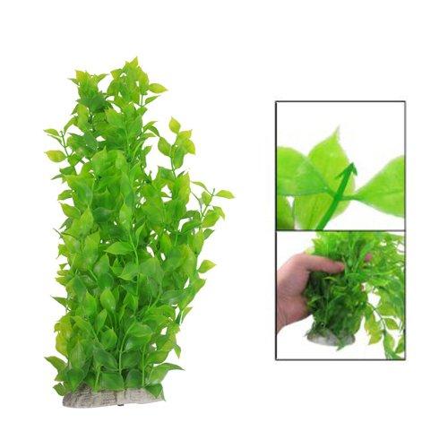 SODIAL(R) 40cm Kunststoff gruene Blaetter Wasserpflanzen fuer Fischtank Aquarium