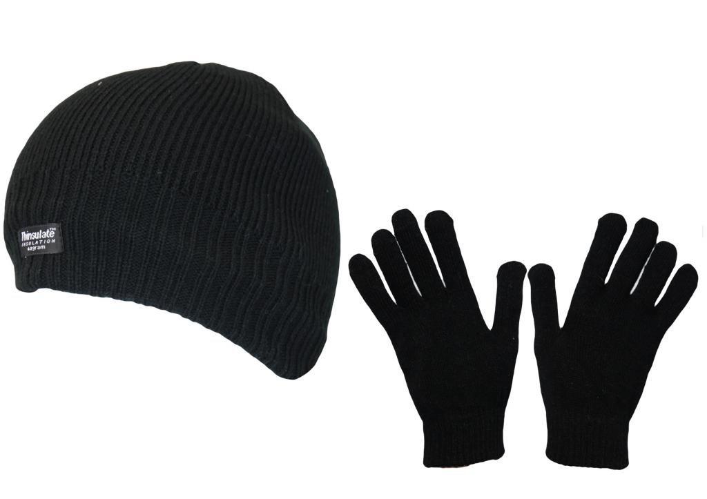 Boys Back To School Winter Warm Gift Set Fleece Lined Thermal Hat & Stretch Glove Stocking Filler Set