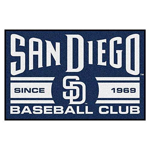 San Diego Baseball Mat (FANMATS 18481 San Diego Padres Baseball Club Starter Rug)