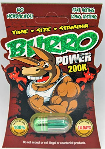 Burro Power 30000 Super Male Enhancer | Maximize Performance | Set of 4 Pills | Made in USA (Enhancement Male Pill Performance)