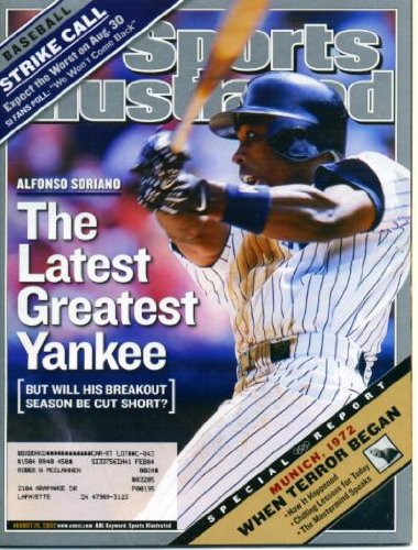 Sports Illustrated August 26, 2002 Alfonso Soriano/New York Yankees, Munich Olympics 1972