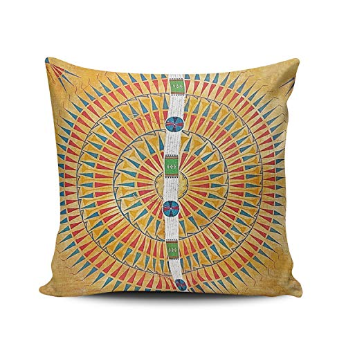 - Fanaing Colorful Native Artwork Symbolic Icons on Hide Pillowcase Home Sofa Decorative 16x16 Inch Square Throw Pillow Case Decor Cushion Covers Double-Sided Printed