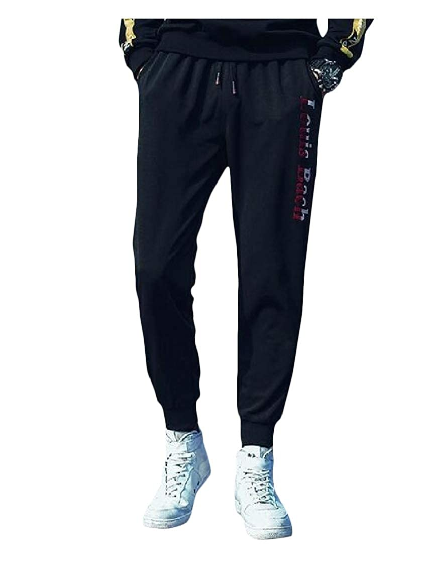 JuJuTa Men Casual Trousers Print Jogger Sport Hip Hop Pants