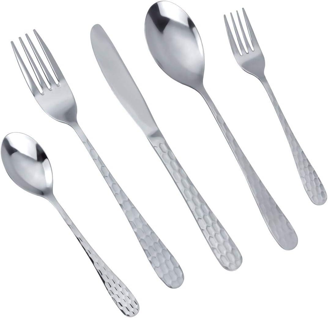 Mdealy 30 Piece Silverware Flatware Cutlery Set Stainless Steel Kitchen Utensils Service For 6 Include Dinner Knives Dinner Forks Dinner Spoons Salad Forks Teaspoons Dishwasher Safe Elegant Gift Flatware Sets