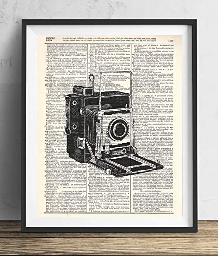 - Vintage Camera (#2) Upcycled Dictionary Art Print 8x10