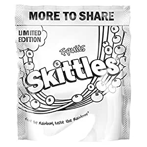 Amazon.com : Skittles Limited Edition Fruit Skittles White 350g : Grocery & Gourmet Food