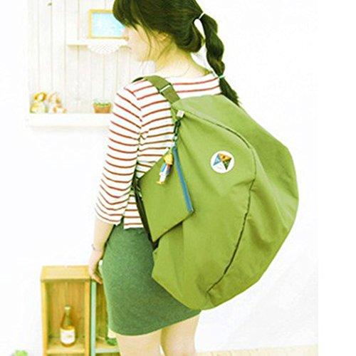 Corea de la manera más nueva estratagema de asas del viaje portable zapatos bolsa mochilas de ocio, (rojo, 21.25 * 14.57 pulgadas) Green