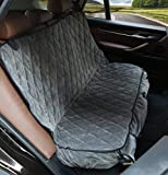 Pet Car Back Seat Cover,Car Seat Protector, Luxury Dog Seat Cover for Cars with Micro Suede,Hammock,Waterproof ,Side Flaps,Nonslip Backing with Seat Anchors,Fits Most Vehicles, Trucks and SUVs.
