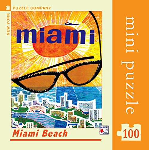 New York Puzzle Company - American Airlines Miami Beach Mini - 100 Piece Jigsaw Puzzle