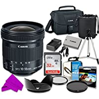 Canon EF-S 10-18mm f/4.5-5.6 IS STM Lens with Professional Accessory Kit for EOS Rebel T3i, T4i, T5i (10 Pieces)