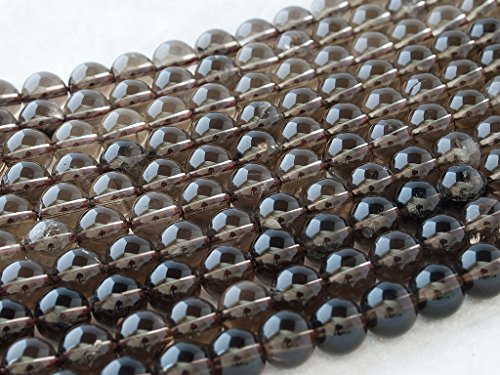 Green Forest Gems, DIY, Smoky Quartz, B-grade, Natural, 6mm, Plain Round Semi-precious Gemstone Bead, About 38cm a Strand. (Please click to see other options.) Green Smoky Quartz Pendant