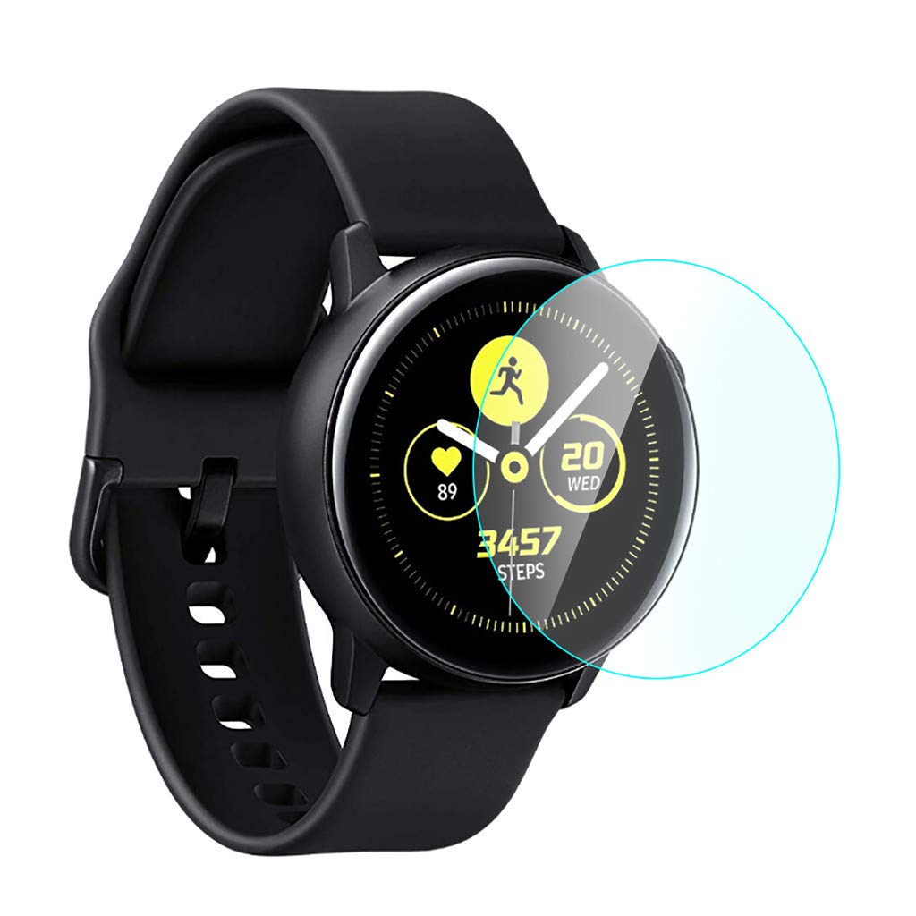 Polwer Tempered Glass Screen Protector For Samsung Galaxy Watch Active (2pack)