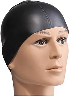 Ogquaton Bonnet de Bain Durable Silicone élastique Bonnet de Bain Capuchon étanche Fournitures d'exercice pour Adultes 1 PCS