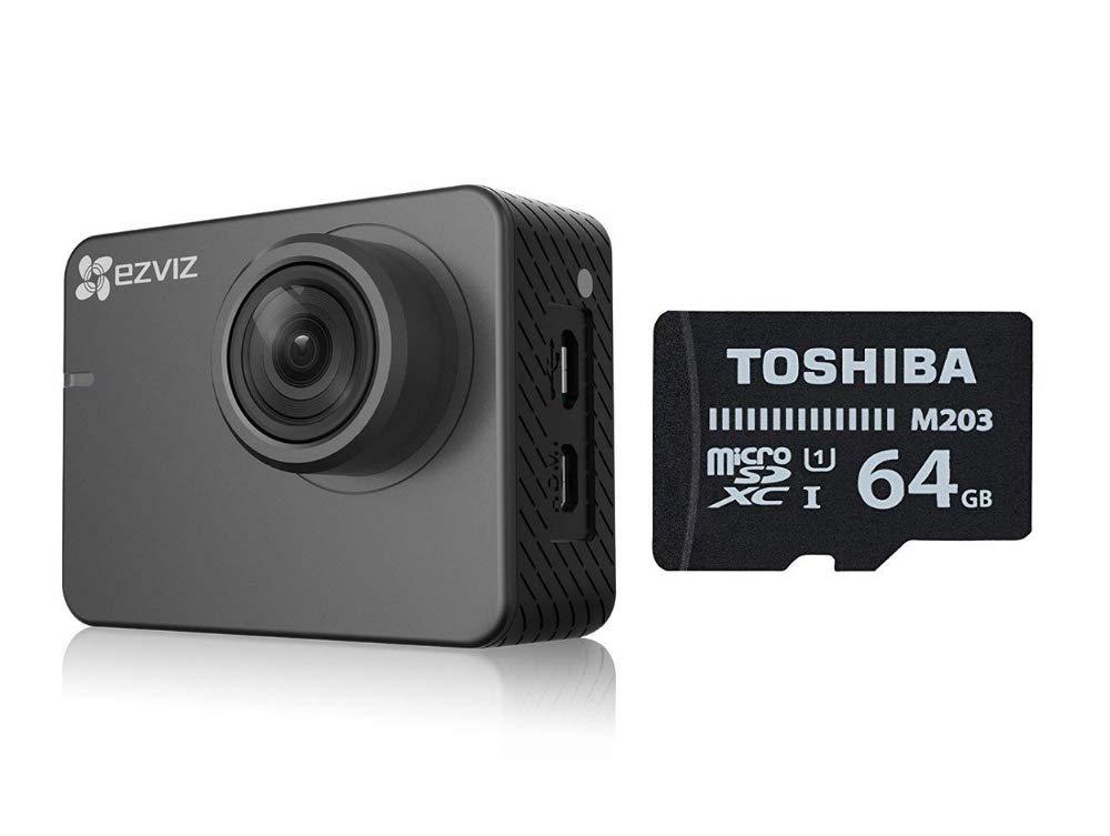 Bluetooth 4.0 Ezviz S2 Lite Sport /& Dash Camera CAR risoluzione Full HD WiFi Grigio supporto a ventosa per auto incluso modalit/à Sport e Guida