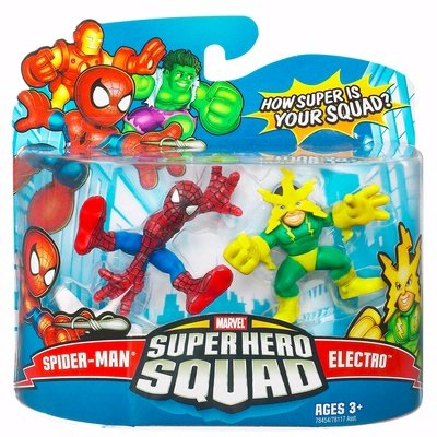 Spider Man Superhero Squad - Marvel Superhero Squad Series 16 Spider-Man & Electro Action Figure 2-Pack