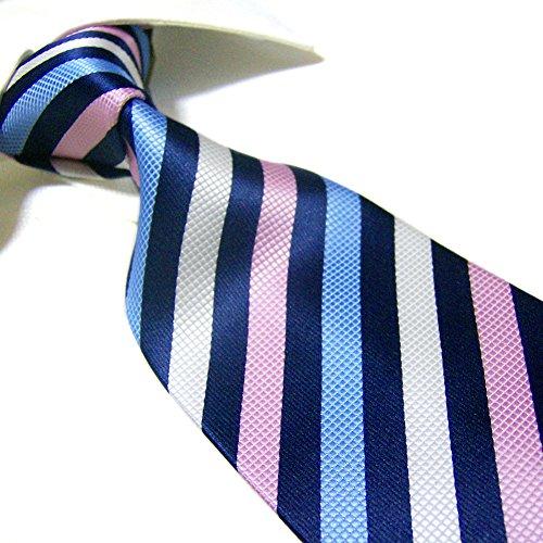 Extra Long Fashion Tie by Towergem,Microfibre Multi Stripe XL Men's Necktie