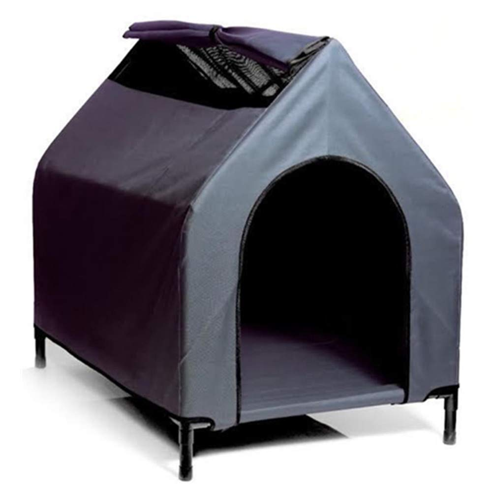 XLarge Waterproof Pet House Grey color Resistant Dog Bed Puppy Kennel Elevated (110x85x108 cm)