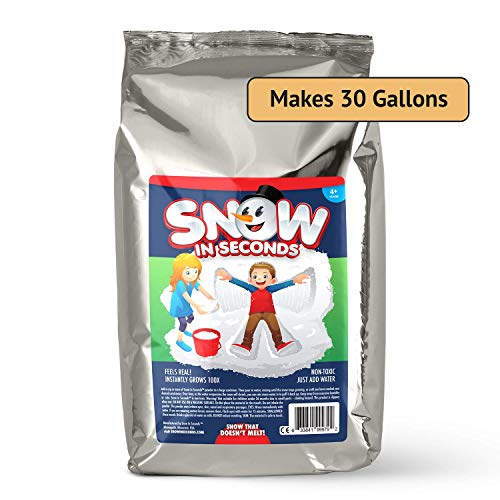 Snow in Seconds Instant Snow Fake Artificial Snow Jumbo Bag - Great for Making Cloud Slime (Makes 30 gallons of Fake Snow)