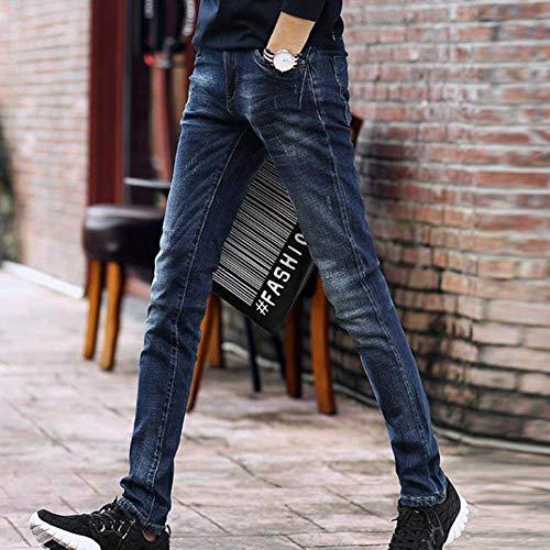 Ispessenti Blau Giovane Giovani Dei Di Maglietta Degli Diritti Casuali Gioventù Del Sottili Matita Della Denim Uomini Pantaloni Jeans TH7Bwxzxq