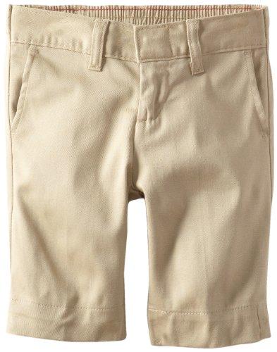 Dickies Little Girls' Uniform Stretch Bermuda Short, Desert Sand, (Dickies Girl Stretch Shorts)