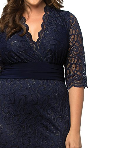 59d15d052e1 Kiyonna Women s Plus Size Lumiere Lace Dress