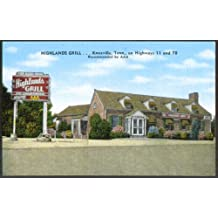 Highlands Grill Highway 11 & 70 Knoxville TN postcard 1940s