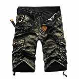 Men Pants Daoroka Men's Casual Pocket Beach Work Casual Short Comfy Fashion Sport Loose Active Trouser (32, Yellow)