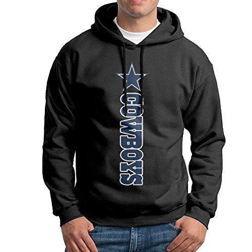 SSDDFF Men's Dallas American Football Team Cowboys Hoodies Hooded Sweatshirt Size M Black (Dallas Cowboys Big D Hat compare prices)