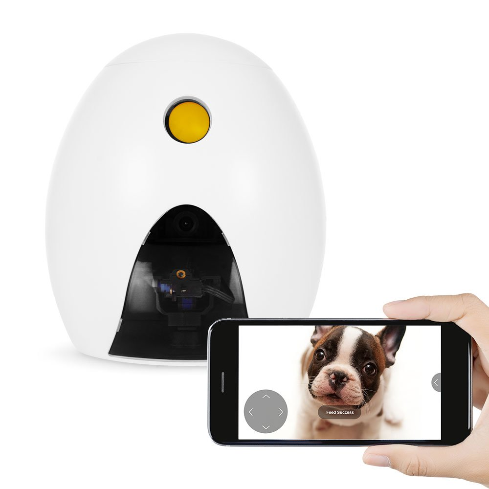 FUNPAW Q Cat Dog Treat Dispenser w Toy Laser Monitor from Anywhere w The App 720p Hi Res Pet Camera 2 Way Audio