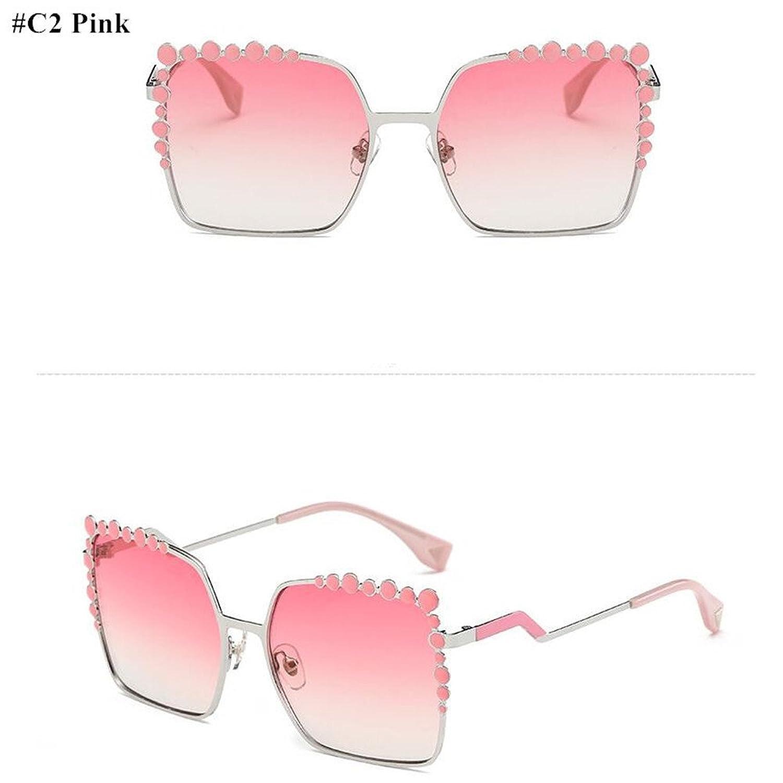 f87fc991d1 2018 Mujeres sobredimensionado Plaza Aviación gafas de sol mujer Diamond  Nueva marca de moda de diseñador