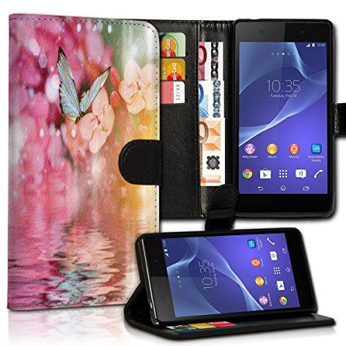 Wallet Book Style Flip Handy Tasche Case Schutz Hülle Schale Motiv Etui für Apple iPhone 4 / 4S - Design Flip MVD425