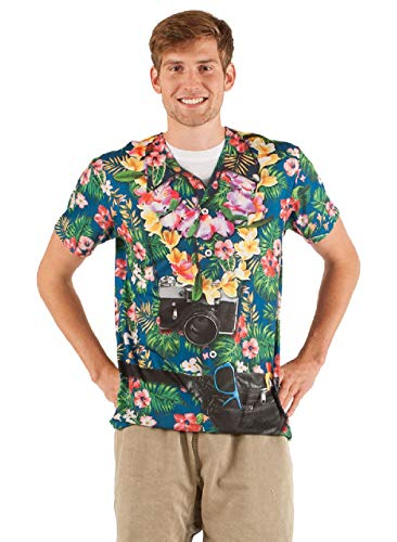 Adult Size Faux Real Tourist - Tacky Traveler - Hawaiian Happiness T Shirt