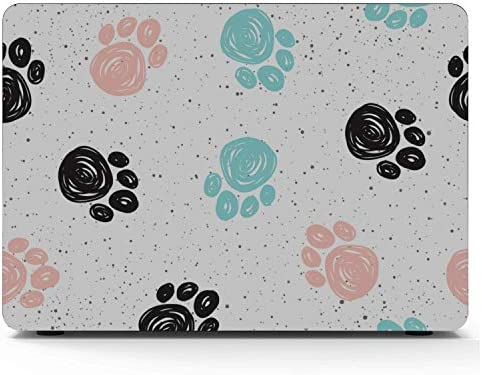 New MacBook Air Case Cat Paw Lovely Pet Run Jump Footprint Plastic Hard Shell Compatible Mac Air 11 Pro 13 15 MacBook Pro Hard Cover Protection for MacBook 2016-2019 Version